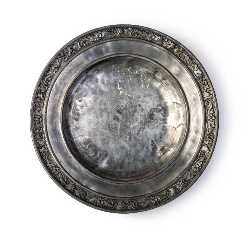 talerz metalu refleksje konsystencja obrazy stock