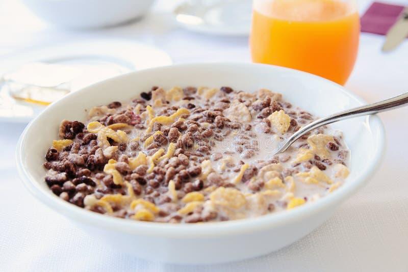Talerz muesli dla śniadania zdjęcia stock