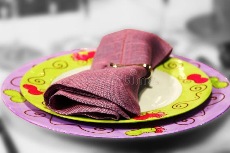 talerze kolację obraz royalty free