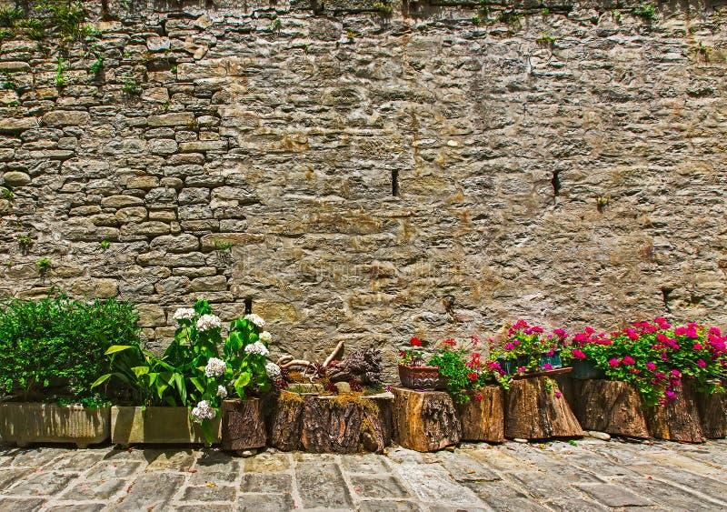 Tales las calles maravillosamente adornadas, las casas y las paredes pueden imagenes de archivo