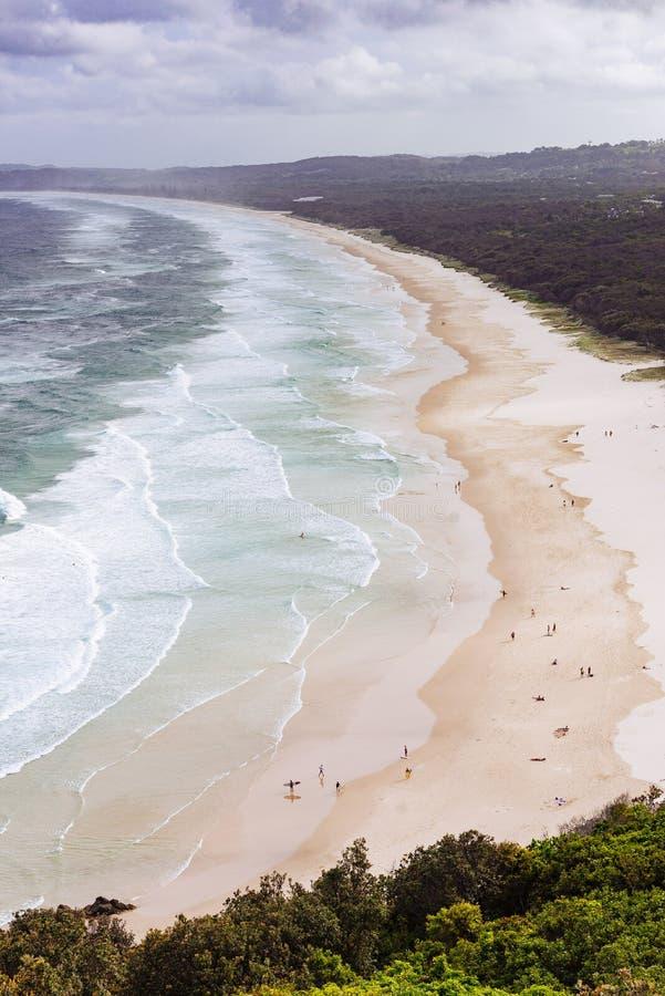 Talgstrand, Byron Bay, Australien arkivbilder