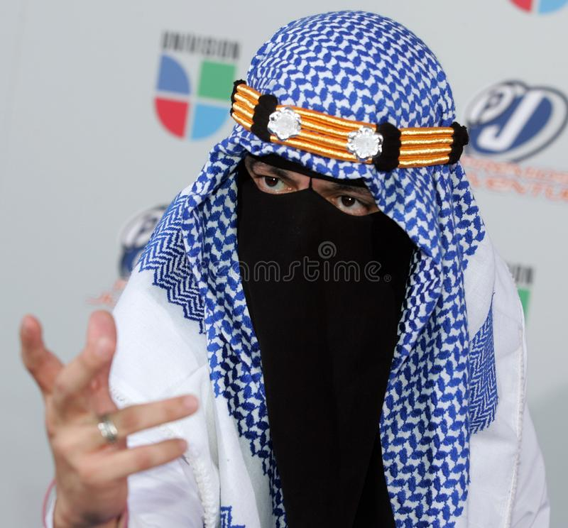 2009 Premios Juventud Awards. The Taliban arrives for the 2009 Premios Juventud Awards at the University of Miami BankUnited Center in Coral Gables, Florida on royalty free stock image