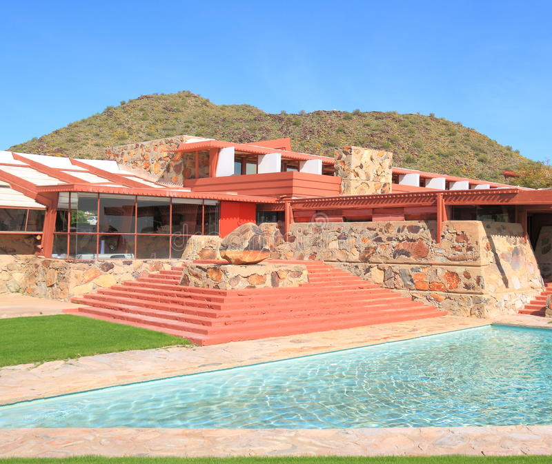 Frank Lloyd Wright : Taliesin occidental/bâtiment principal photographie stock libre de droits