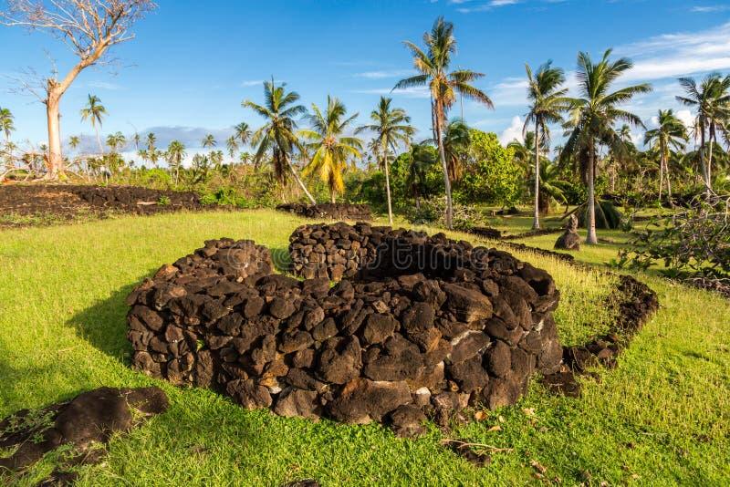 Talietumu Kolo Nui, των νήσων Τόγκα οχυρό στο νησί Uvea Wallis, Nήσοι Ουώλλις και Φουτούνα, Ωκεανία, νοτιοειρηνικός ωκεανός στοκ εικόνα με δικαίωμα ελεύθερης χρήσης