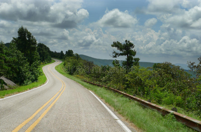Talimena Drive, Ouachita mountains, curving roads royalty free stock images