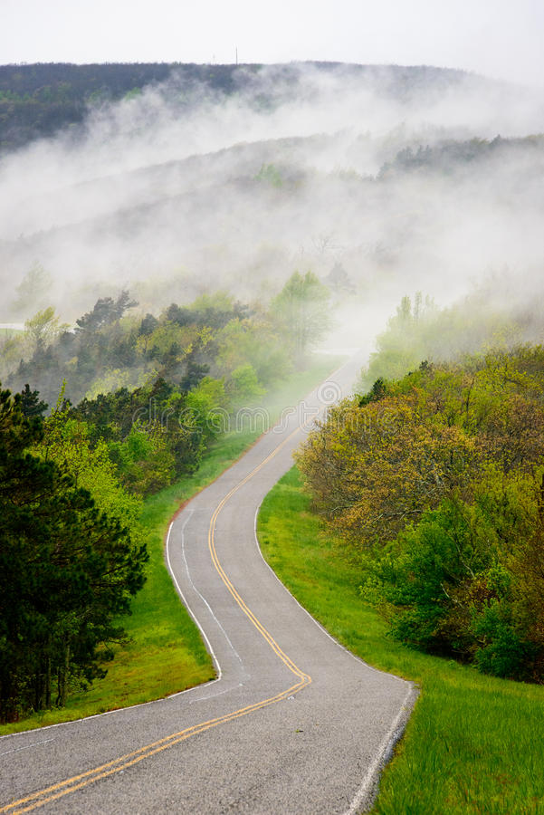 Talimena Scenic Drive royalty free stock photo