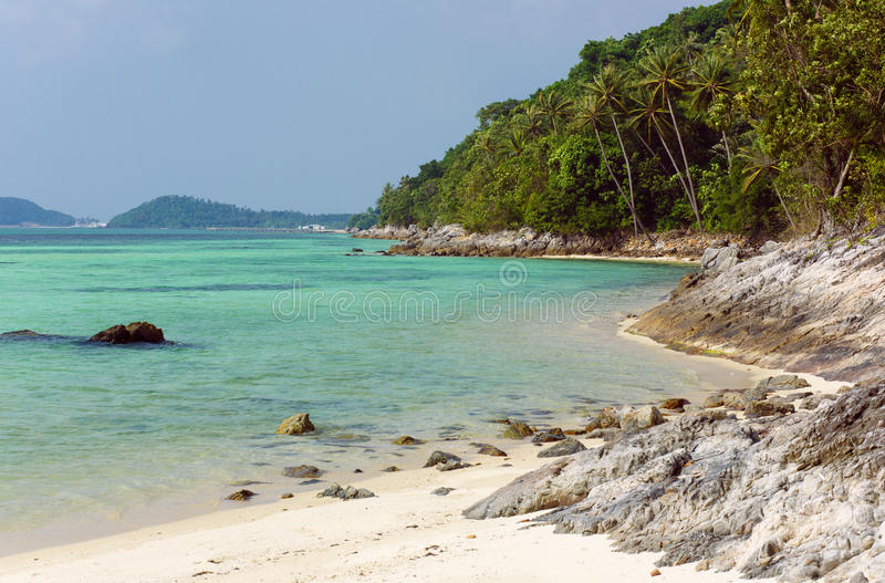Taling Ngam Beach. Koh Samui island. Thailand. stock photo