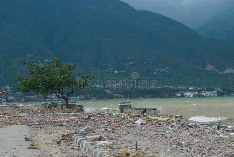 Talise, Palu, Indonesia Coastline View After Tsunami Palu, Indonesia On 28 September 2018. Talise Coastline Condition After Tsunami Palu, Indonesia On 28 stock photos