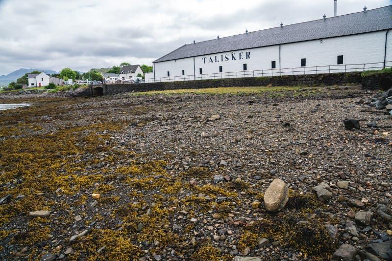 Talisker槽坊总部,苏格兰,英国 免版税库存图片