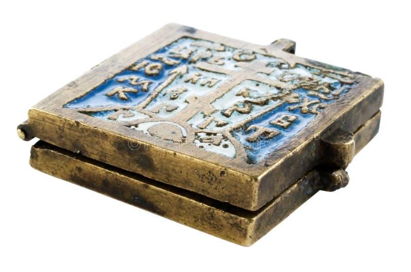 Talismán cristiano antiguo imagen de archivo