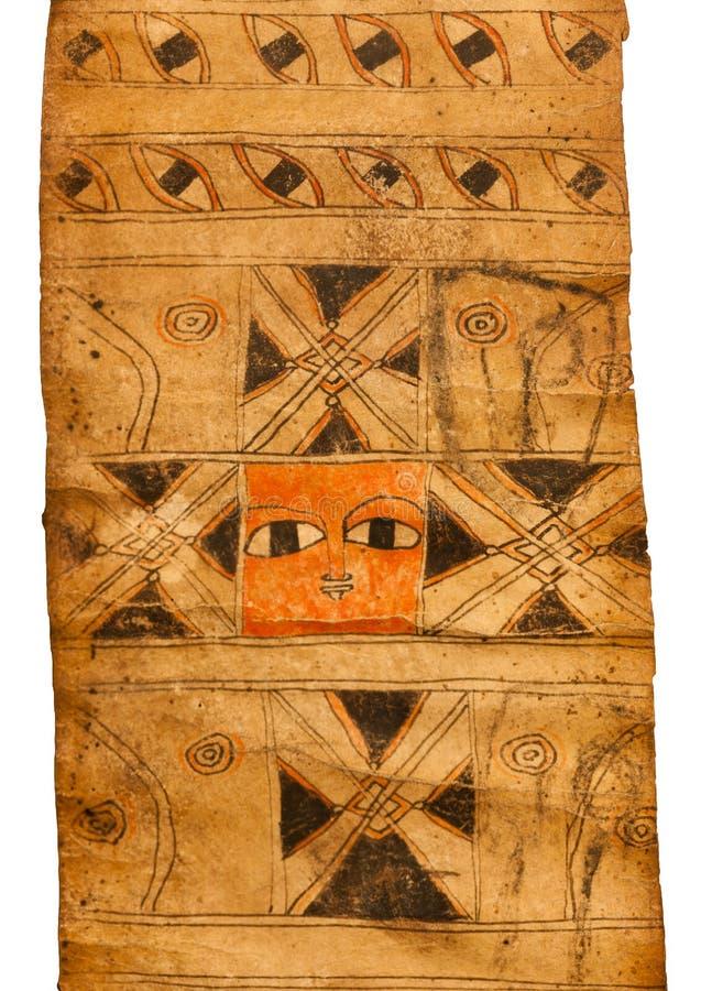 Talismán en una voluta mágica etíope imagen de archivo