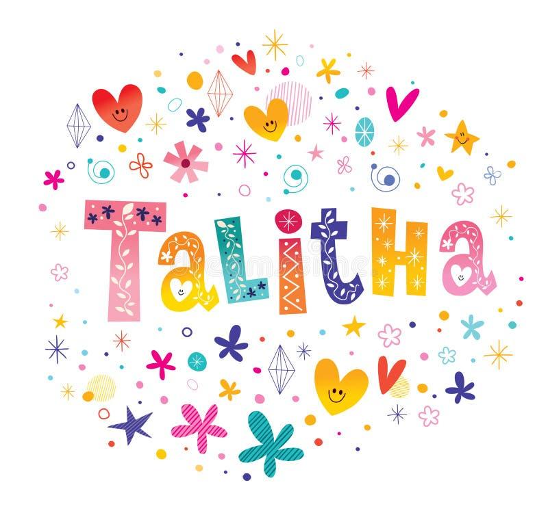 Talitha女孩命名 库存例证