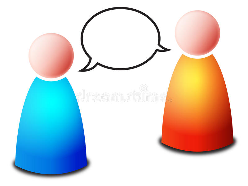 Download Talk stock vector. Illustration of couple, dialog, communicating - 17731434