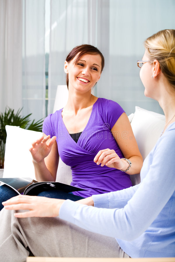 Download Talk about all stock photo. Image of residential, person - 8956198