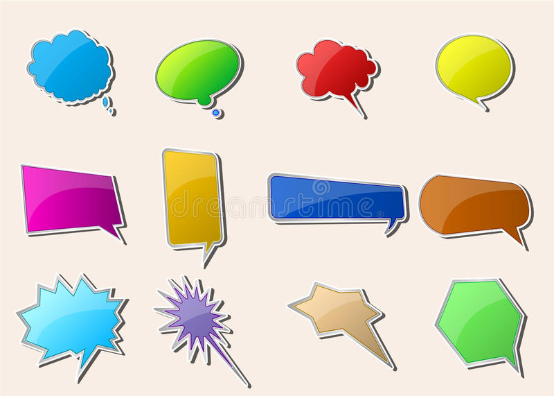 Talk Bubbles. This image is contained Speech And Thought Bubbles vector illustration