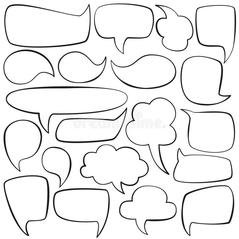Free Talk Bubbles Royalty Free Stock Images - 55903109