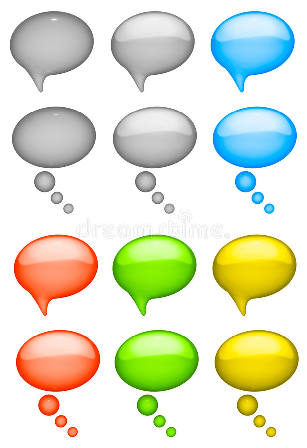Talk bubbles vector illustration