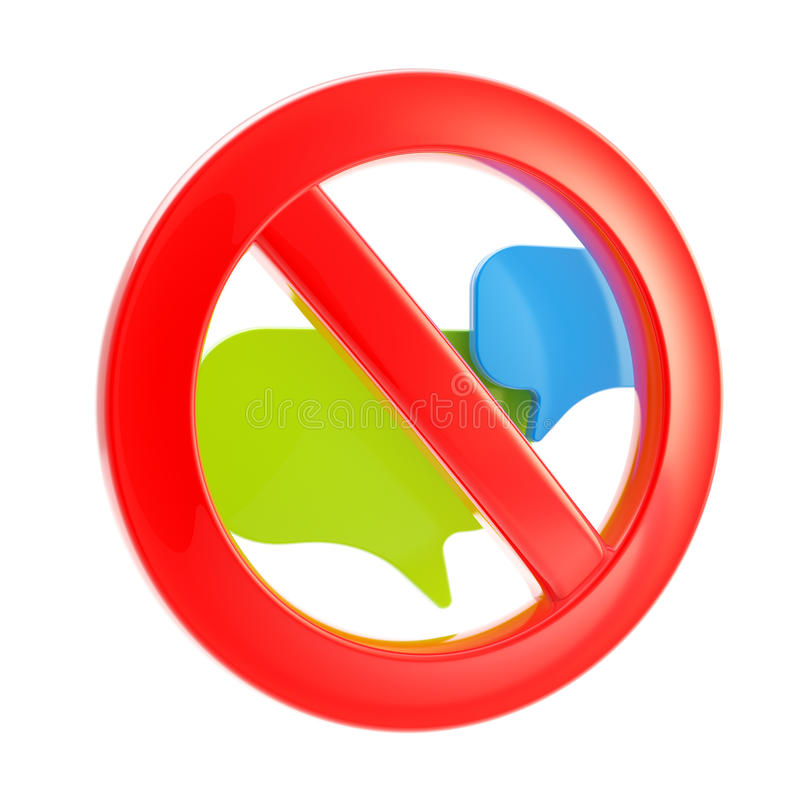 Download Talk Conversation Forbidden Sign Stock Illustration - Image: 24603809
