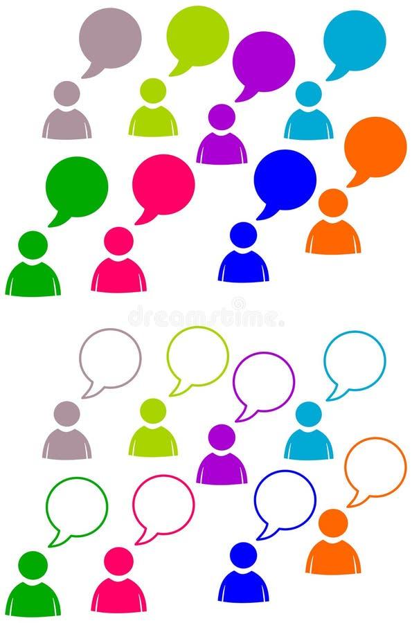 Talk emoticon vector illustration