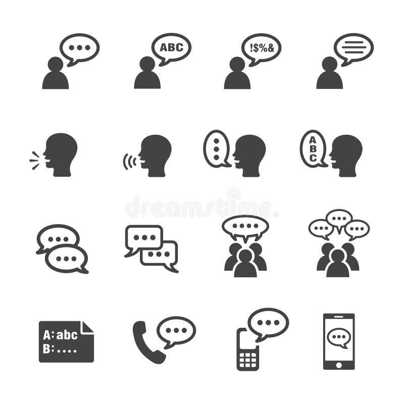Free Talk Icon Set Stock Photography - 136581012
