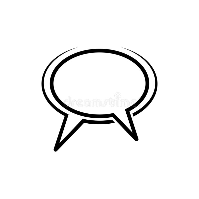 Speak Chat Sign Icon In Comic Style. Bubble Dialog Vector