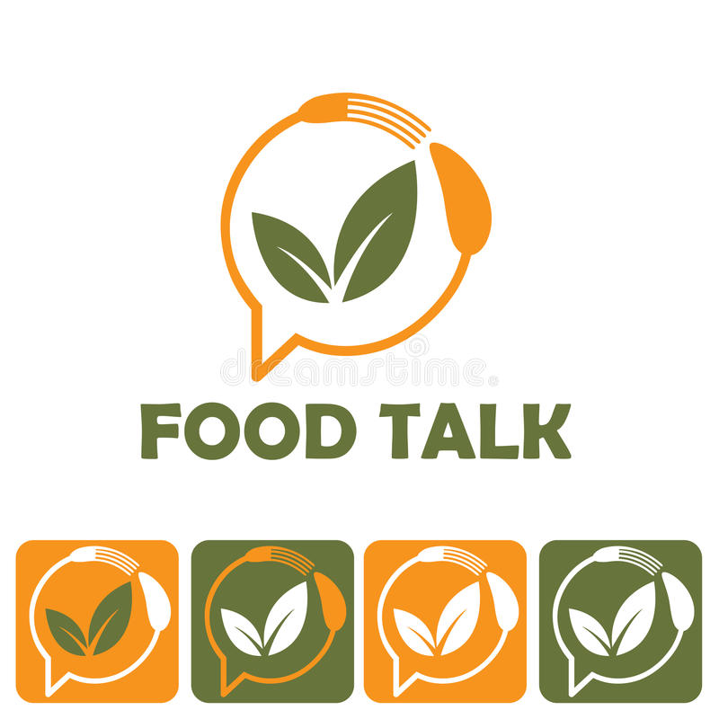 Food talk illustration royalty free illustration