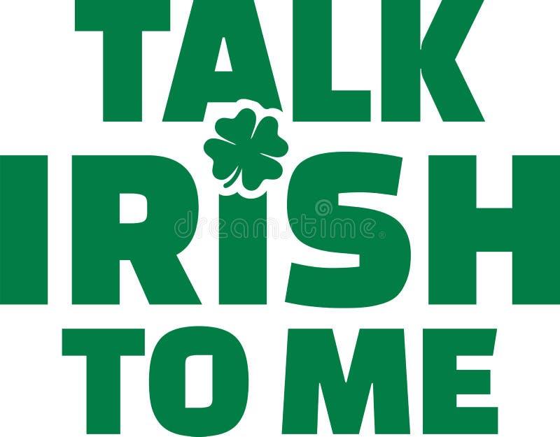 Talk irish to me - irish text. Vector vector illustration