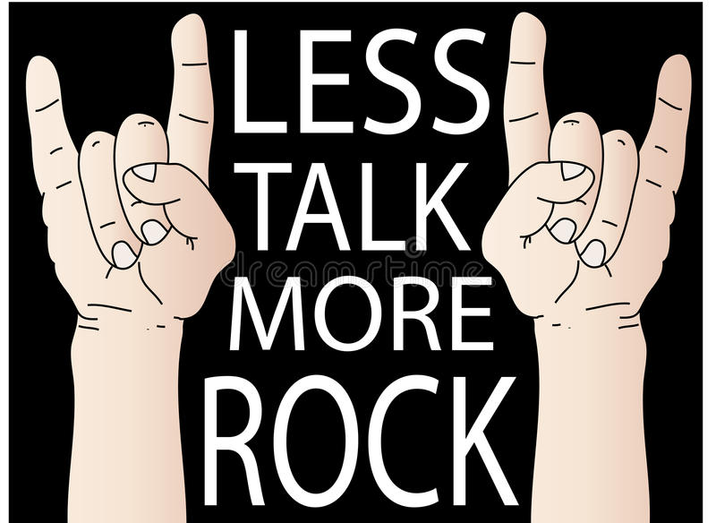 Download Less Talk More Rock stock vector. Image of black, hardcore - 13229917