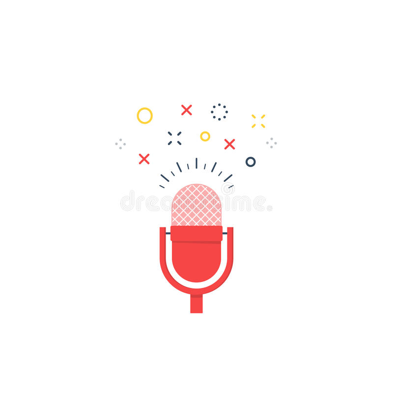 Talk show, icona di podcast e logo royalty illustrazione gratis