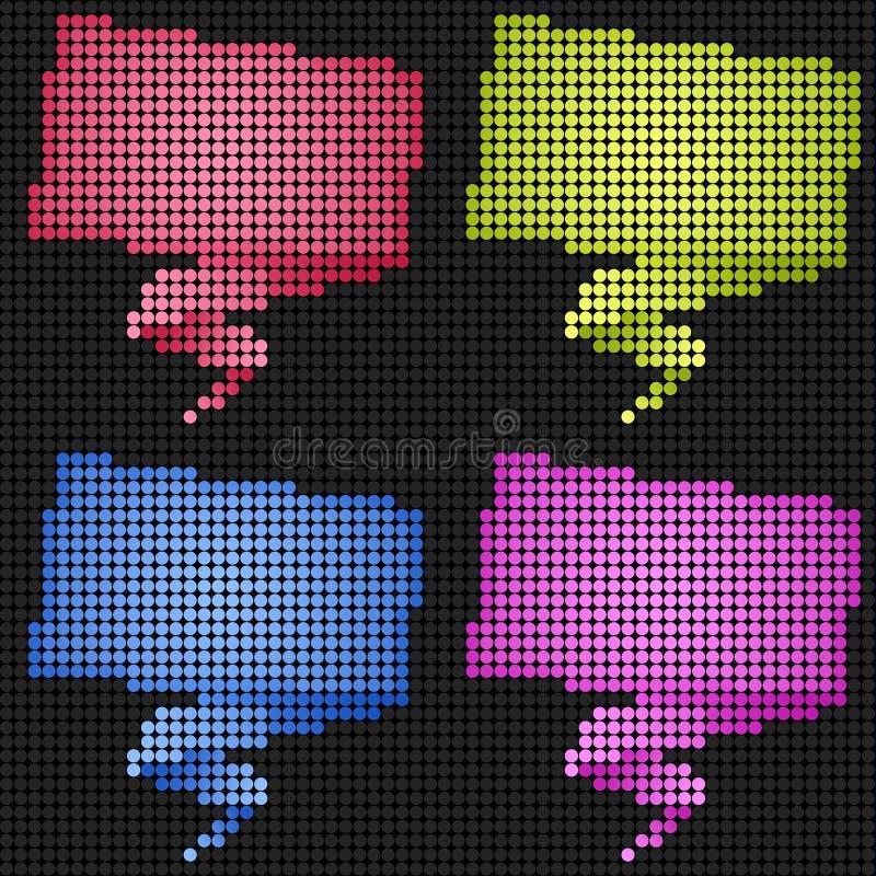 Talk tag LED Screen. Talk tag label on Technology LED Screen royalty free illustration