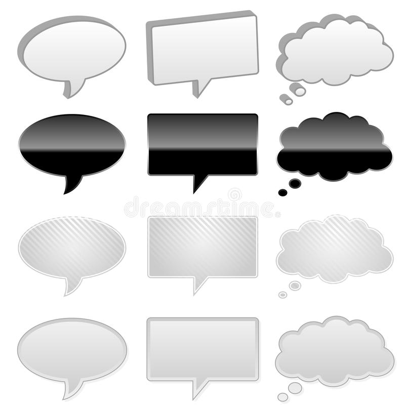 Download Talk and thought bubbles stock vector. Image of balloon - 16024661