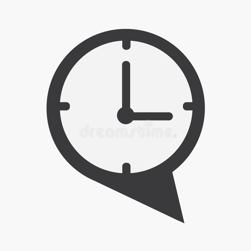 Talk time icon vector. Flat design style vector illustration