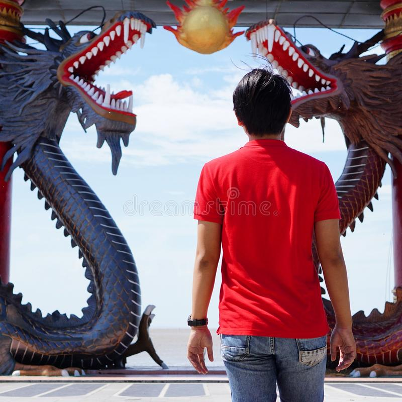 Talk to the dragons royalty free stock photography