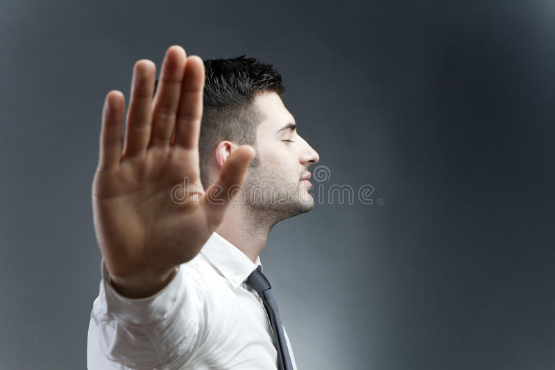 Talk to the hand stock photos