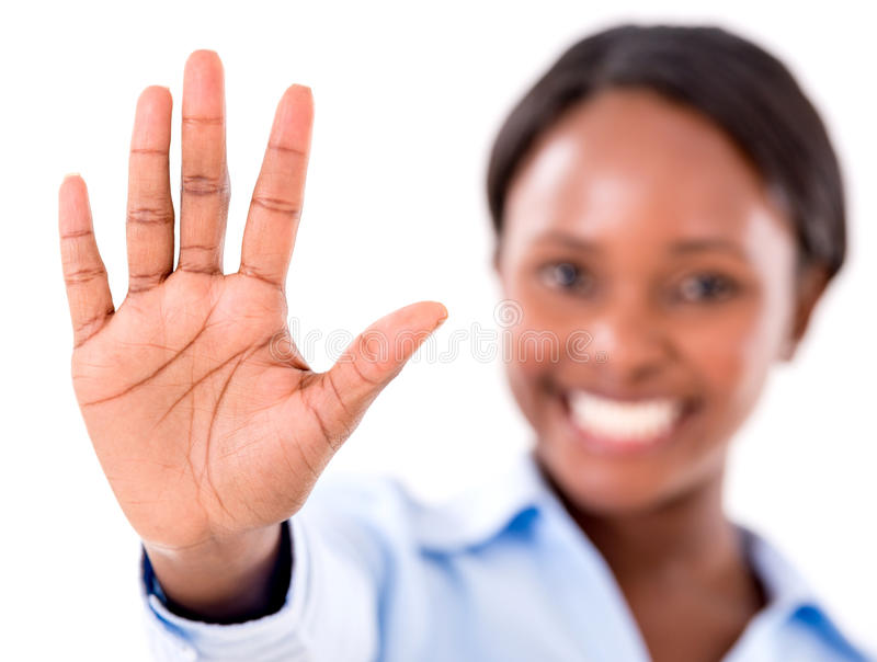 Download Talk to the hand stock photo. Image of disregards, person - 31876532