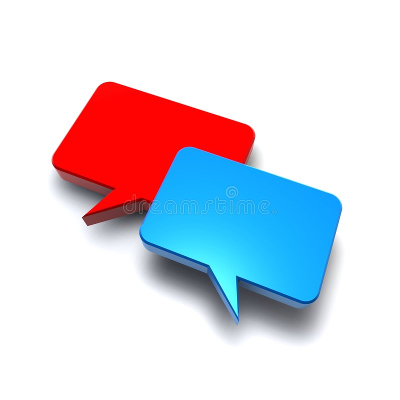 Talk to me. Bubbles red and blue royalty free illustration