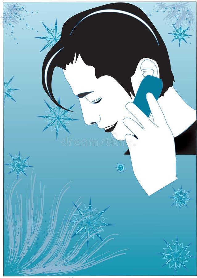 Download Talk in winter stock vector. Image of phone, vector, happy - 1763976