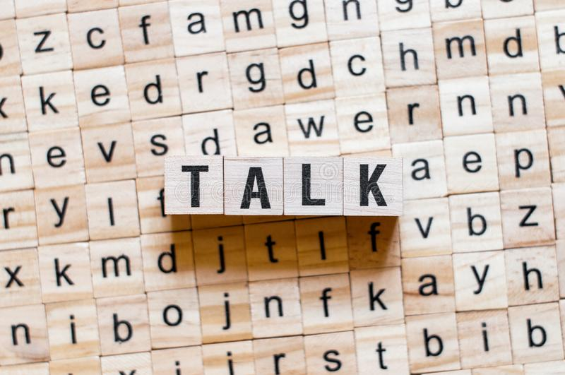 Talk word concept royalty free stock images