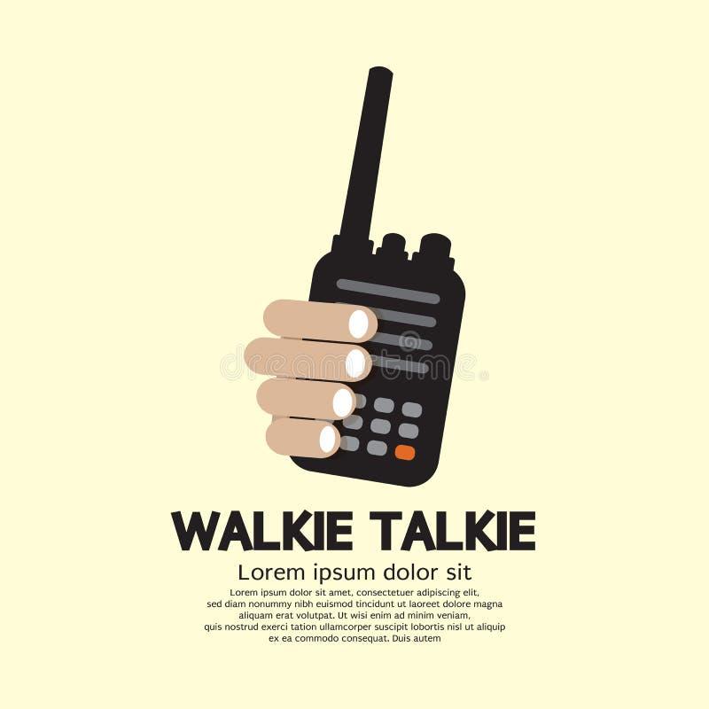 Talkie-walkie à disposition illustration libre de droits