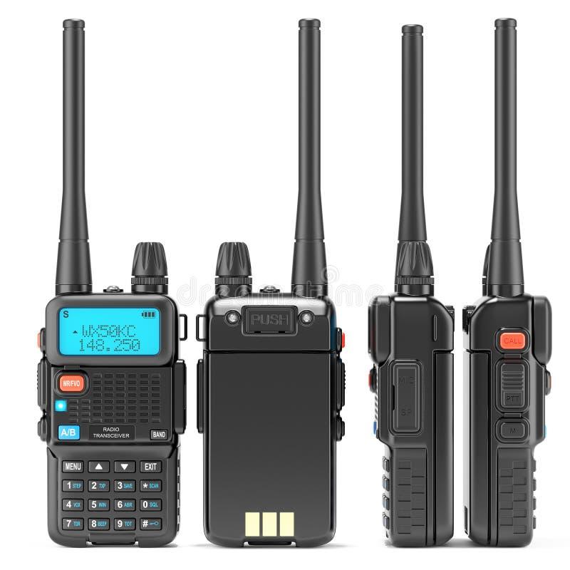 Talkie - walkie, tous les côtés illustration de vecteur