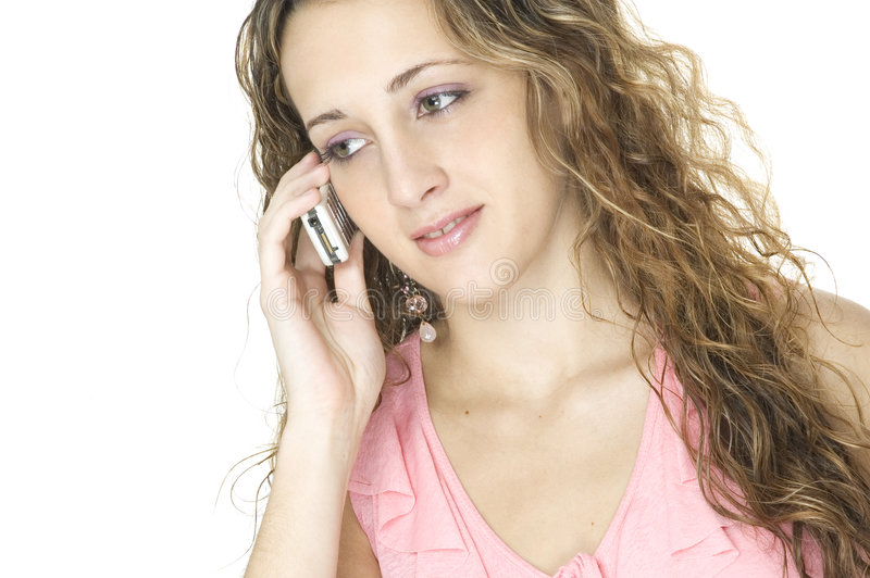 Download Talking stock photo. Image of beauty, handphone, features - 98038