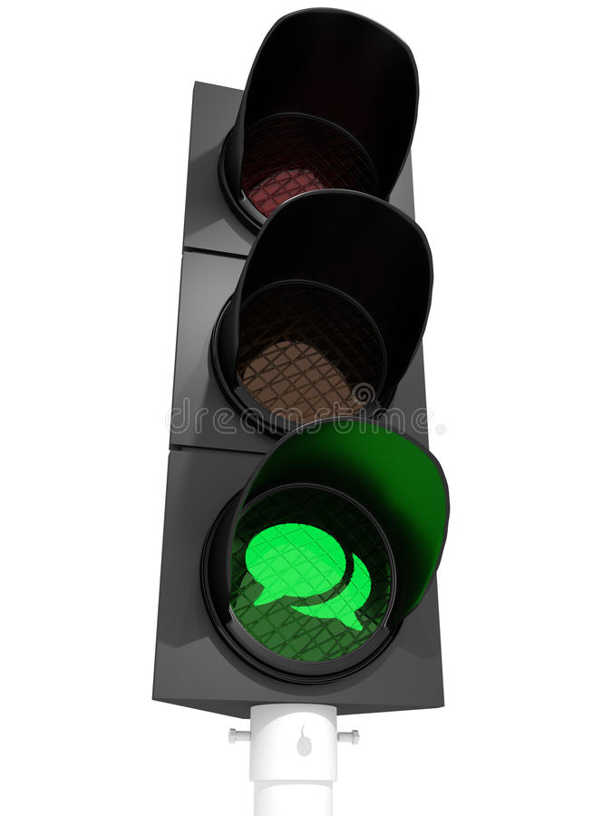 Talking allowed (traffic light) royalty free stock photography