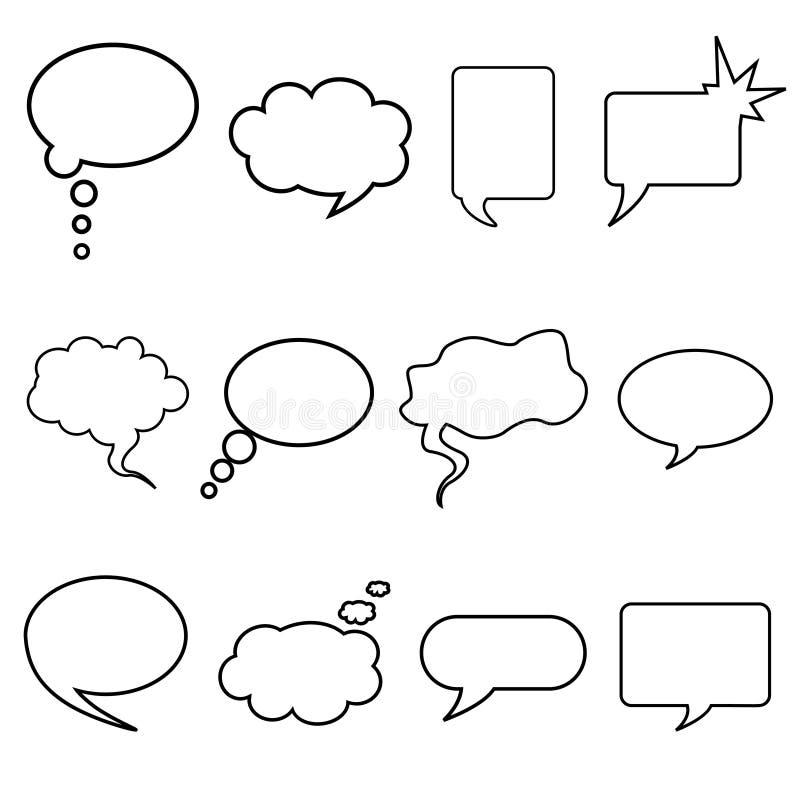 Talking bubble vector royalty free illustration