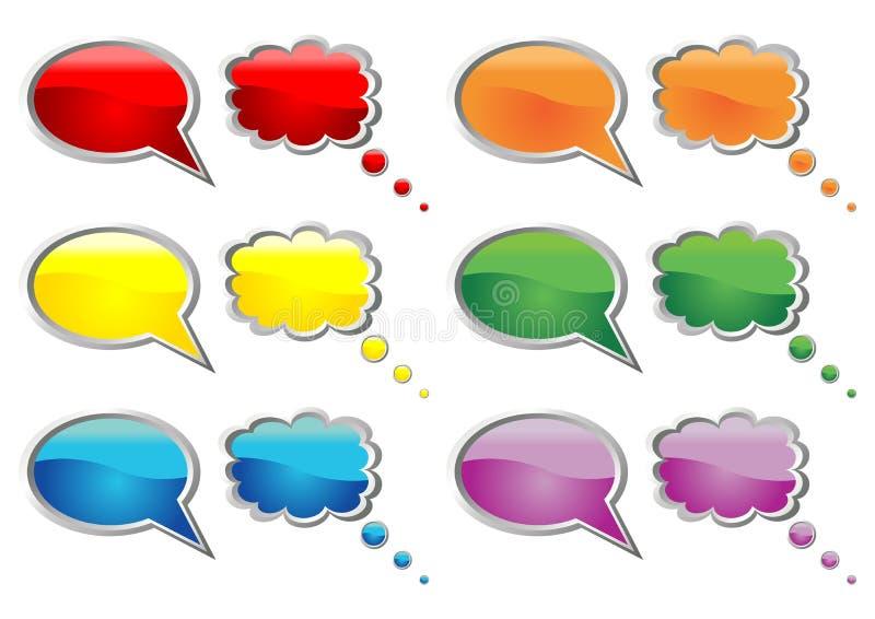 Talking_bubbles_01 stock illustratie