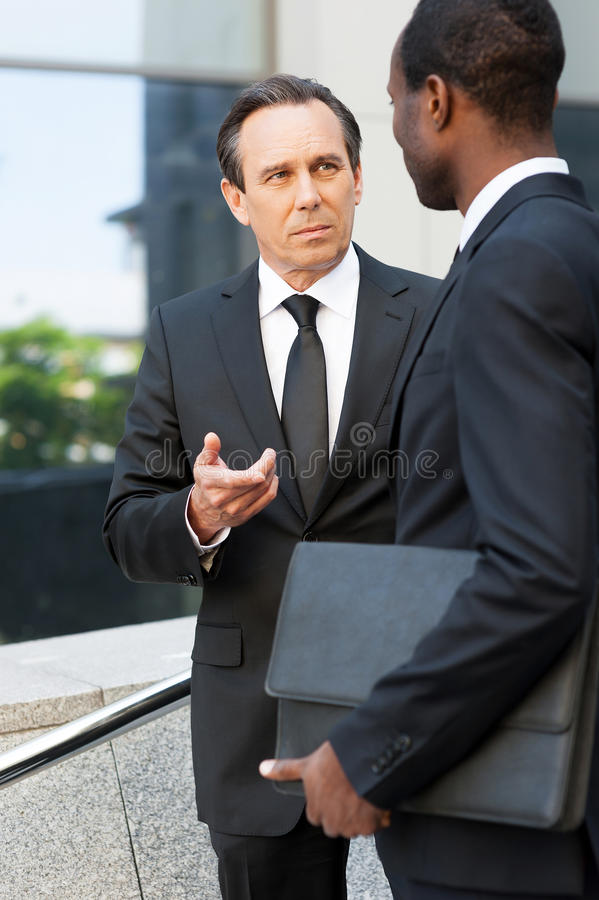 Talking about business. royalty free stock image