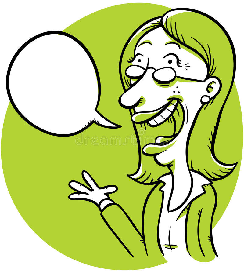 Download Talking Businesswoman stock illustration. Image of copyspace - 24790916