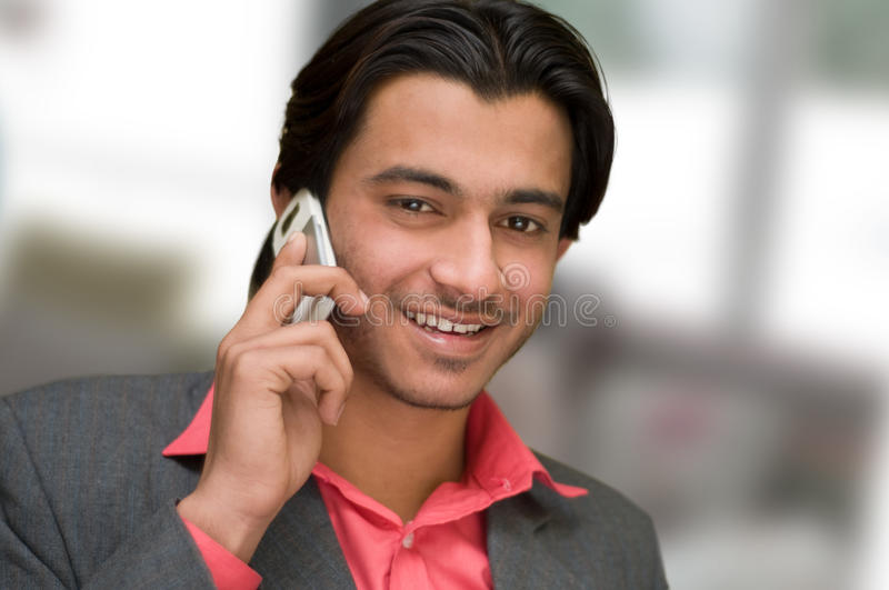 Talking on cell phone royalty free stock photos