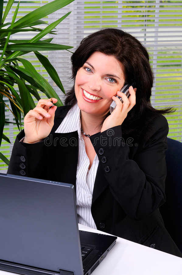 Download Talking On A Cellphone stock image. Image of mobile, consultant - 5421933