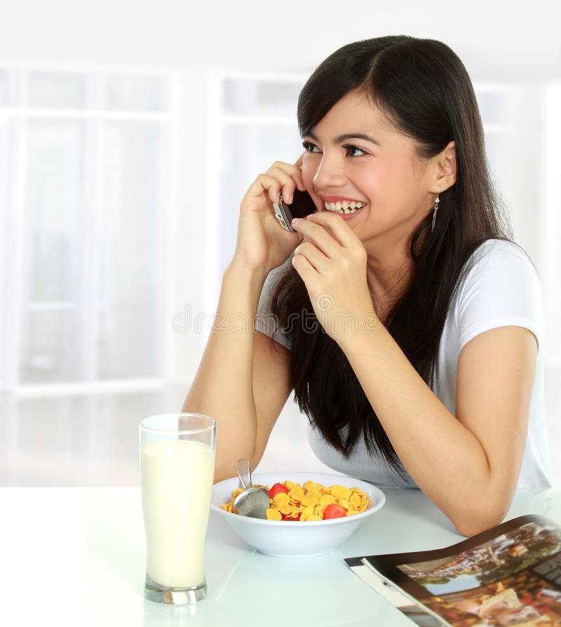 Download Talking and eating stock photo. Image of cute, female - 22887618