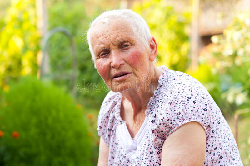 Download Talking elderly lady stock image. Image of kind, outdoors - 26031085